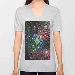 Eagle Nebula Colorful Jewel Tones Unisex V-Neck
