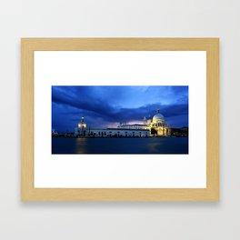 Lightning in Venice Framed Art Print