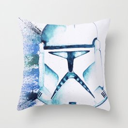 Blue Clone Trooper Throw Pillow