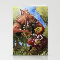 red hood Stationery Cards featuring Red Hood by Jose Luis Ocana