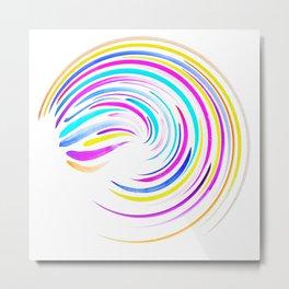 Watercolor Swirl Metal Print
