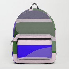 twotone blue and green circle Backpack