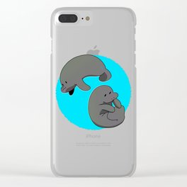 Manatee circle Clear iPhone Case