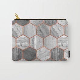 Marble Hexagons Carry-All Pouch