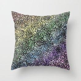 Rainbow Through Winter Canopy Throw Pillow