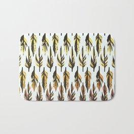 Boho Feather Pattern Bath Mat