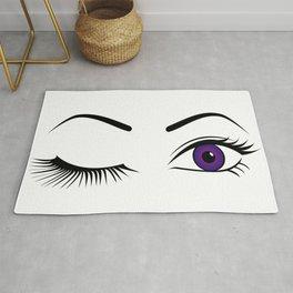 Violet Wink (Left Eye Open) Rug