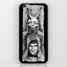Donnie Darko Scribble Portrait iPhone Skin
