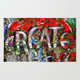 "Berlin Wall Street Art ""Create"" Rug"