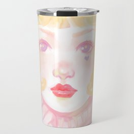 Pink Blondie Travel Mug