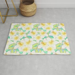 Gilding the Lilies - bright Rug
