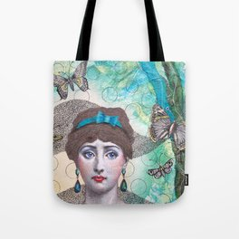Young lady - Blue Tote Bag