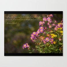 Plant A Flower Canvas Print