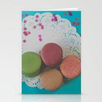 macarons Stationery Cards featuring Macarons by Jessica Torres Photography