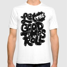 let the good times roll SMALL White Mens Fitted Tee
