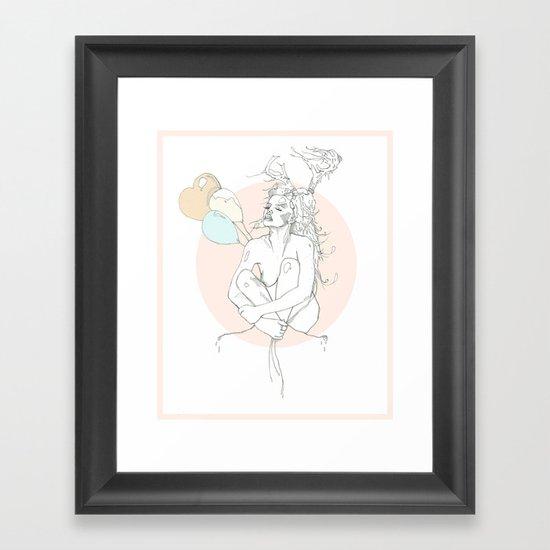 milk toast Framed Art Print