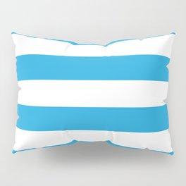 Oktoberfest Bavarian Blue and White Large Cabana Stripes Pillow Sham