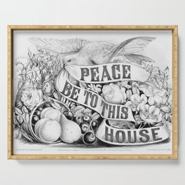Peace be to this house vintage sign, 1872 Serving Tray