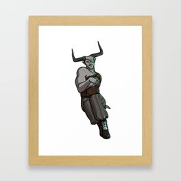 Strong Female Pose - Iron Bull Framed Art Print