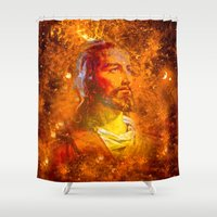 jesus Shower Curtains featuring Jesus by Saundra Myles