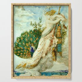 "Gustave Moreau ""The Peacock Complaining to Juno"" Serving Tray"