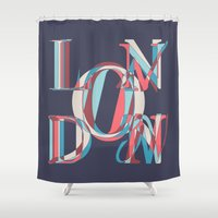 london Shower Curtains featuring London by Fimbis