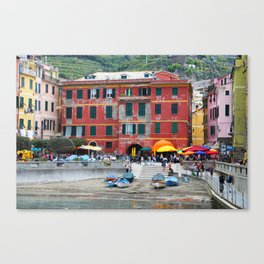 All About Italy. Piece 10 - Vernazza Houses Canvas Print