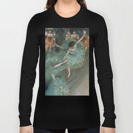 Swaying Dancer - Edgar Degas Long Sleeve T-shirt