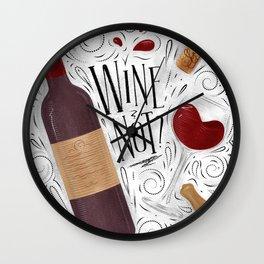 Wine not white Wall Clock