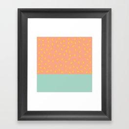 Peach Fuzz and Pit Framed Art Print