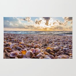 Sunset beach Rug