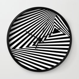 abstract striped background Wall Clock
