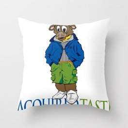 Acquired Taste Bull Throw Pillow