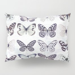 Black and white marble butterflies Pillow Sham