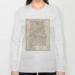 Vintage Map of Alabama (1891) Long Sleeve T-shirt