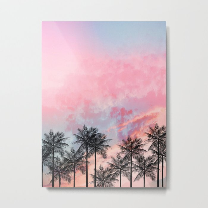 Summer Palm Tree #Society6 #Buyart #Decor Metal Print
