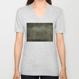 Binary Code with grungy textures Unisex V-Neck