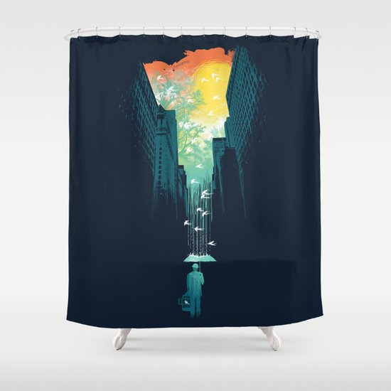 I Want My Blue Sky Shower Curtain