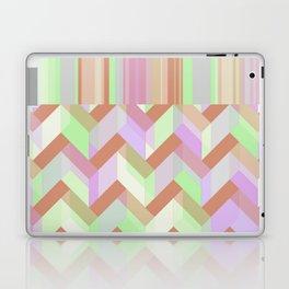 Lime Chevron Stripes Laptop & iPad Skin