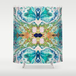 Fragmented 82 Shower Curtain