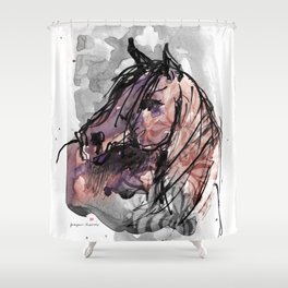 HORSE (ROUGE) Shower Curtain