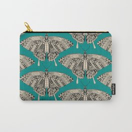 swallowtail butterfly teal black Carry-All Pouch