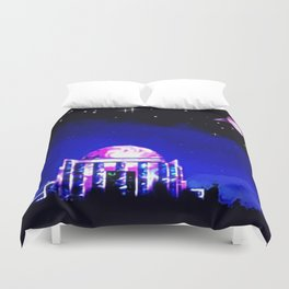Observer to space. Duvet Cover
