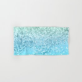 Seafoam Aqua Ocean MERMAID Girls Glitter #1 #shiny #decor #art #society6 Hand & Bath Towel