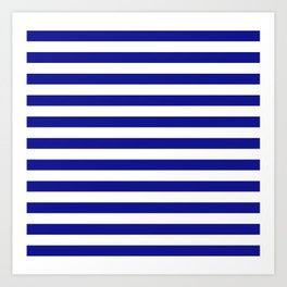 navy stripes Art Print