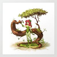 poison ivy Art Prints featuring Poison Ivy by biboun