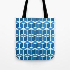 Blue Boxes Tote Bag