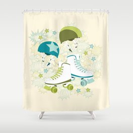 Roller Derby Rumble Shower Curtain