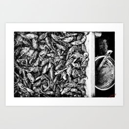 Crayfish Passel Art Print