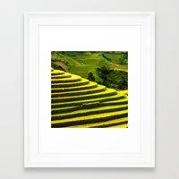 duvet cover Framed Art Prints featuring Duvet Cover 407D by Michael Mackin